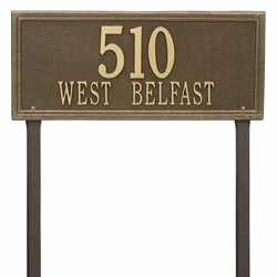 Whitehall Double Line Estate Lawn Address Plaque - Two Line