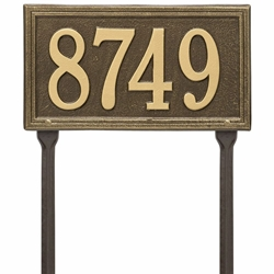 Whitehall Double Line Standard Lawn Address Plaque - One Line