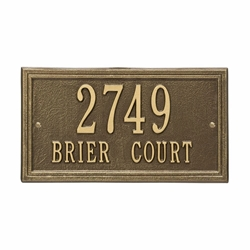 Whitehall Double Line Standard Wall Address Plaque - Two Line