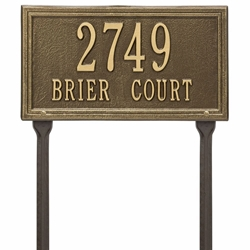 Whitehall Double Line Standard Lawn Address Plaque - Two Line