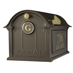 Whitehall Balmoral Mailbox Side Plaques and Monogram Package in Bronze