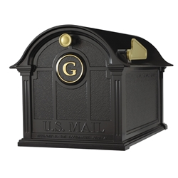 Whitehall Balmoral Mailbox Monogram Package in Black
