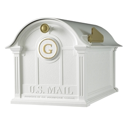 Whitehall Balmoral Mailbox Monogram Package in White