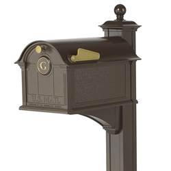 Whitehall Balmoral Mailbox Monogram & Post Package in Bronze