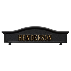 Whitehall Capitol Mailbox Personalized Two Sided Topper
