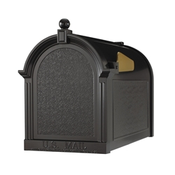 Whitehall Capitol Mailbox in Black
