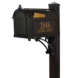 Whitehall Superior Mailbox Package in Bronze