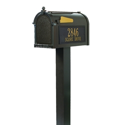 Whitehall Premium Mailbox Package in Bronze