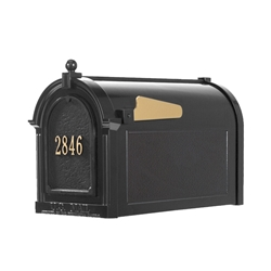 Whitehall Capitol Mailbox Door Plaque Package in Black