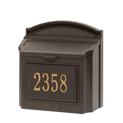 Whitehall Wall Mailbox Package in Bronze
