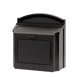 Whitehall Wall Mailbox in Black