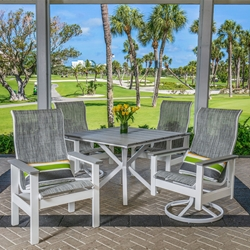 Windward Kingston MGP Sling Outdoor Dining Set with High Back Chairs - WW-KINGSTON-SET4