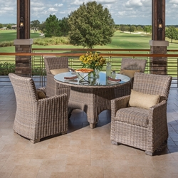 Windward Oxford Outdoor Wicker Dining Set for 4 - WW-OXFORD-SET6