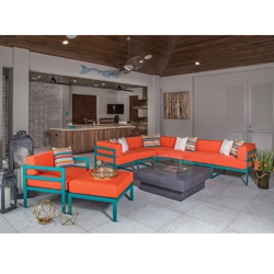 Windward South Beach Outdoor Sectional with Lounge and Ottoman - WW-SOUTHBEACH-SET2