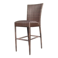 Woodard All Weather Padded Seat Armless Bar Stool - S593091