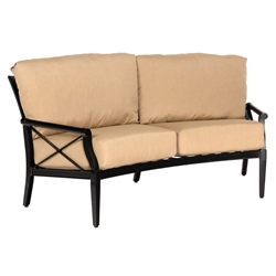 Woodard Andover Cushion Crescent Loveseat - 510463