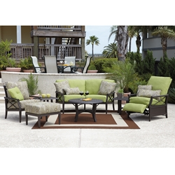 Woodard Andover Cushion 7 Piece Patio Set