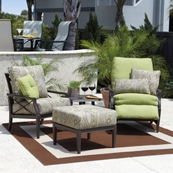 Woodard Andover Cushion 4 Piece Patio Seating Set