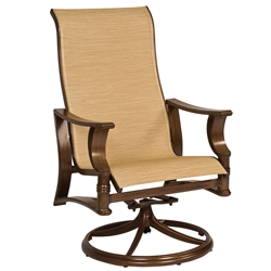 Woodard Arkadia Sling High-Back Swivel Rocker - 5H0466