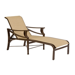 Woodard Arkadia Sling Adjustable Chaise Lounge - 5H0470
