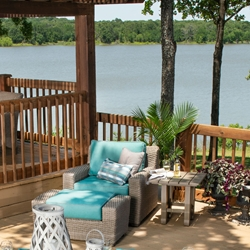Woodard Augusta Outdoor Wicker Lounge and Side Table Furniture Set - WD-AUGUSTA-SET7