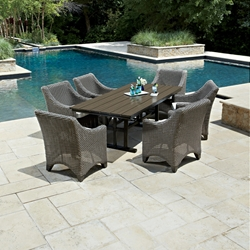 Woodard Augusta 7 Piece Patio Dining Set - WHITECRAFT-AUGUSTA-SET5