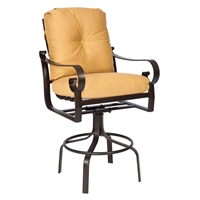 Woodard Belden Cushion Swivel Bar Stool - 690468
