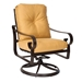 Belden Fire Table Set with Crescent Loveseat and Swivel Rocker Chairs - WD-BELDEN-SET1