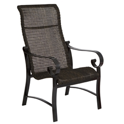 Woodard Belden Woven High Back Dining Arm Chair - 5J0425