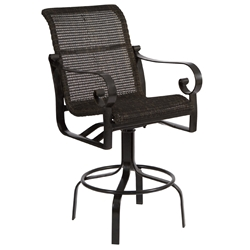Woodard Belden Woven Swivel Bar Stool - 5J0468