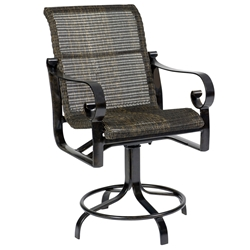 Woodard Belden Woven Swivel Counter Stool - 5J0469