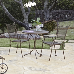 Woodard Bradford Wrought Iron 3 Piece Bistro Set - WD-BRADFORD-SET1