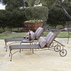 Woodard Bradford Wrought Iron 3 Piece Chaise Lounge Set - WD-BRADFORD-SET2