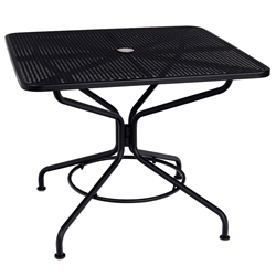 "Woodard Cafe Series 36"" Square Umbrella Table - 280029N"