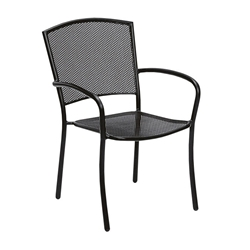 Woodard Cafe Series Albion Dining Arm Chair - Stackable - 7R0021