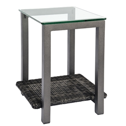 Woodard Canaveral End Table with Glass Top - S508201