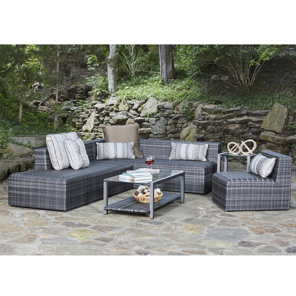 Woodard Canaveral Eden Modern Wicker Sectional Sofa and Chair Set - WD-CANAVERAL-SET3  sc 1 st  ForPatio.com : wicker sectional - Sectionals, Sofas & Couches