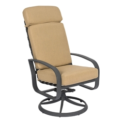Woodard Cayman Isle Cushion High Back Swivel Rocker - 2EM488