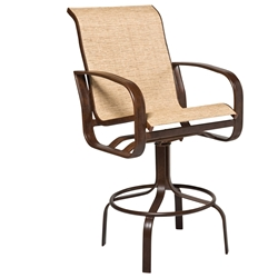 Woodard Cayman Isle Sling Swivel Bar Stool - 2FH468