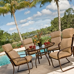 Woodard Cayman Isle Cushion 5 Piece Dining Set - WD-CAYMAN-SET2