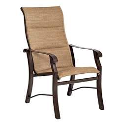 Woodard Cortland Padded Sling High Back Dining Arm Chair - 42H526