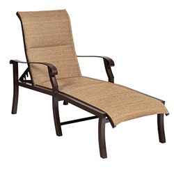 Woodard Cortland Padded Sling Adjustable Chaise Lounge - 42H570