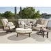 Woodard Cortland Crescent Loveseat and Extra Large Swivel Rocker Set - WD-CORTLAND-SET5