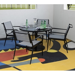 Woodard Daytona Modern Aluminum Sling Outdoor Dining Set - WD-DAYTONA-SET3