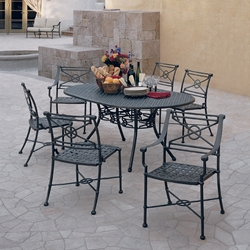 Woodard Delphi Outdoor Dining Set for 6 with Oval Table - WD-DELPHI-SET4