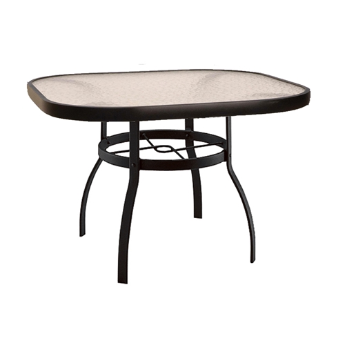 Deluxe 42 Square Glass Top Dining Table Woodard At