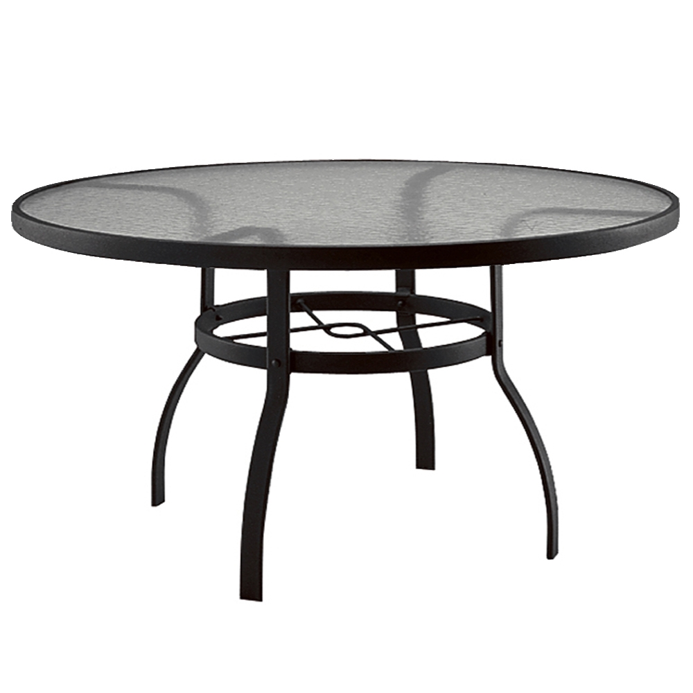 Deluxe 60 inch round Glass Top Dining Table Woodard at  : 827360w from forpatio.com size 500 x 500 jpeg 58kB