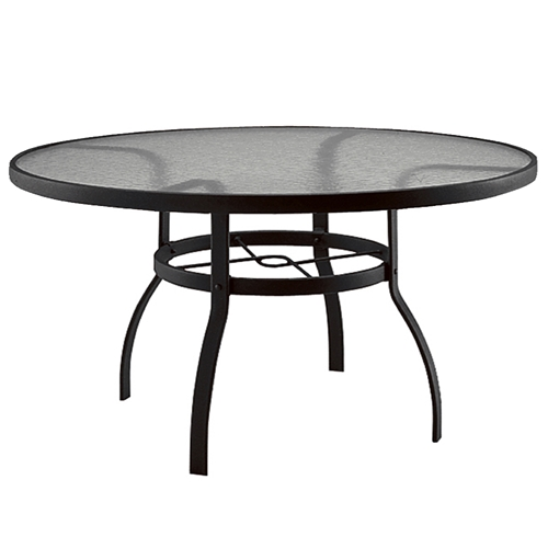 Deluxe 60 inch round glass top dining table woodard at for 60 inch round dining table