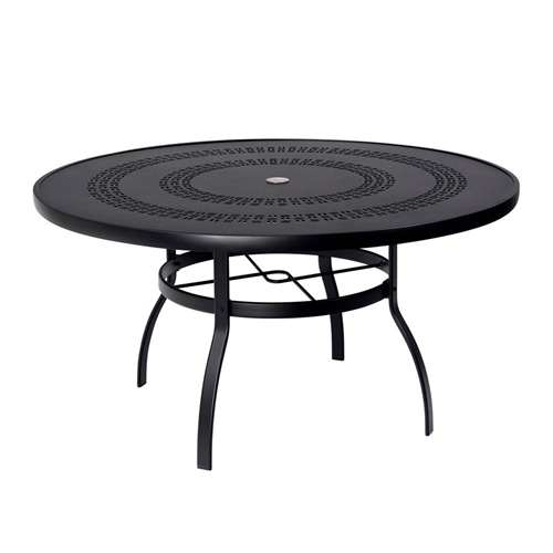deluxe 54 inch round trellis top dining table woodard at forpatio