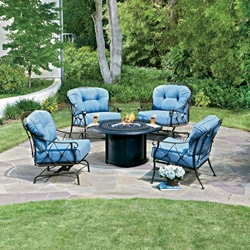Woodard Derby Fire Pit Chat Set - 4T0106-265-2T0348-03348FP